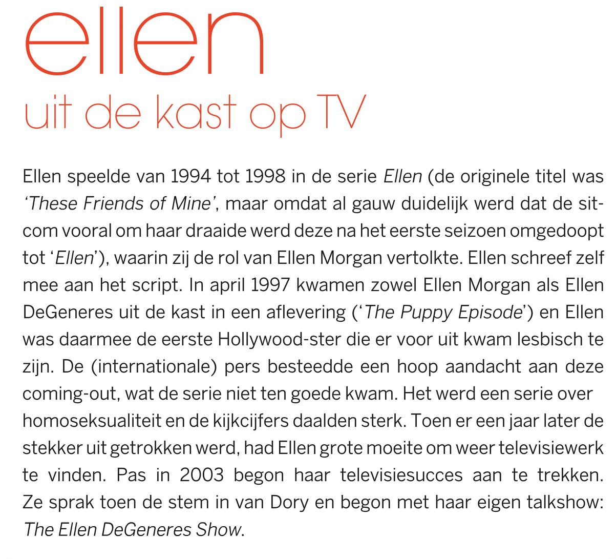 Zij Aan Zij Ellen Degeneres Uit De Kast Op Tv 20 Jaar